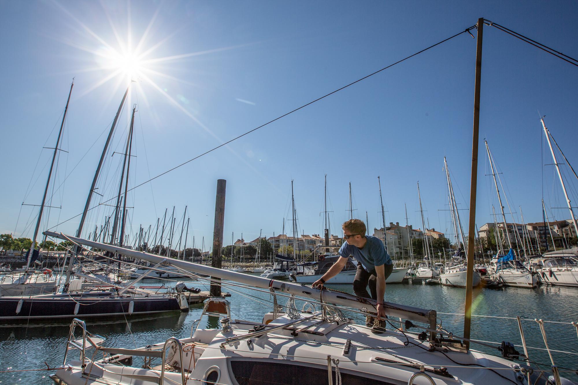 démâtage maxus 24 biquille La Rochelle Voyage Amor Fati