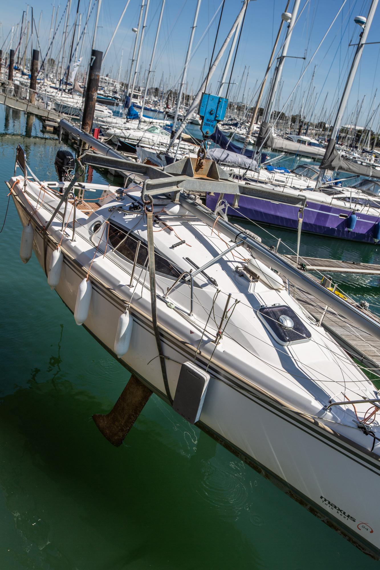 grutage maxus 24 biquille La Rochelle Voyage Amor Fati