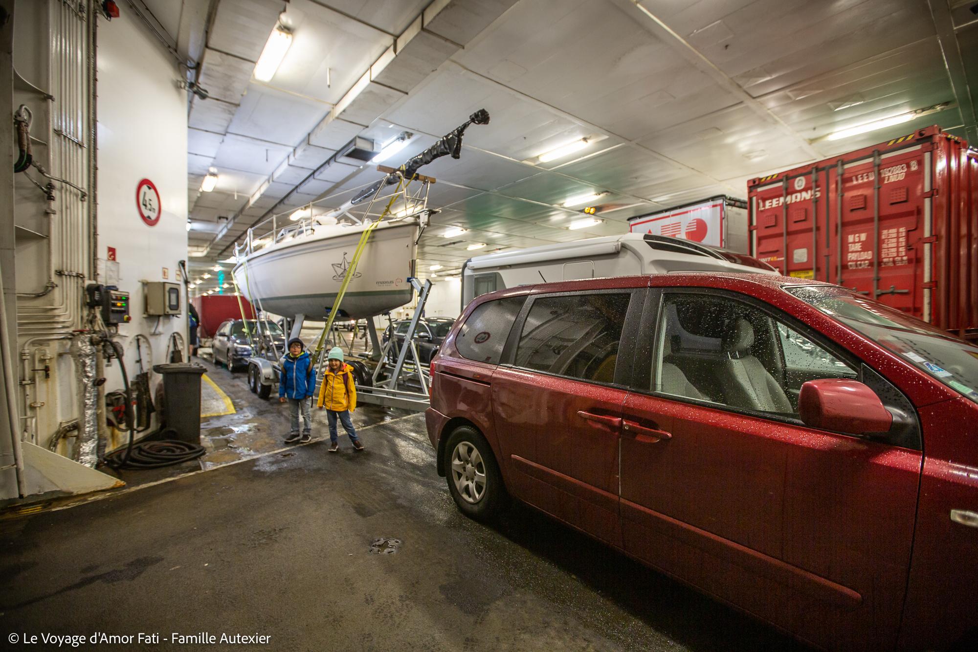 Voyage Amor Fati convoyage remorque Maxus 24 biquille Ferry TTLine