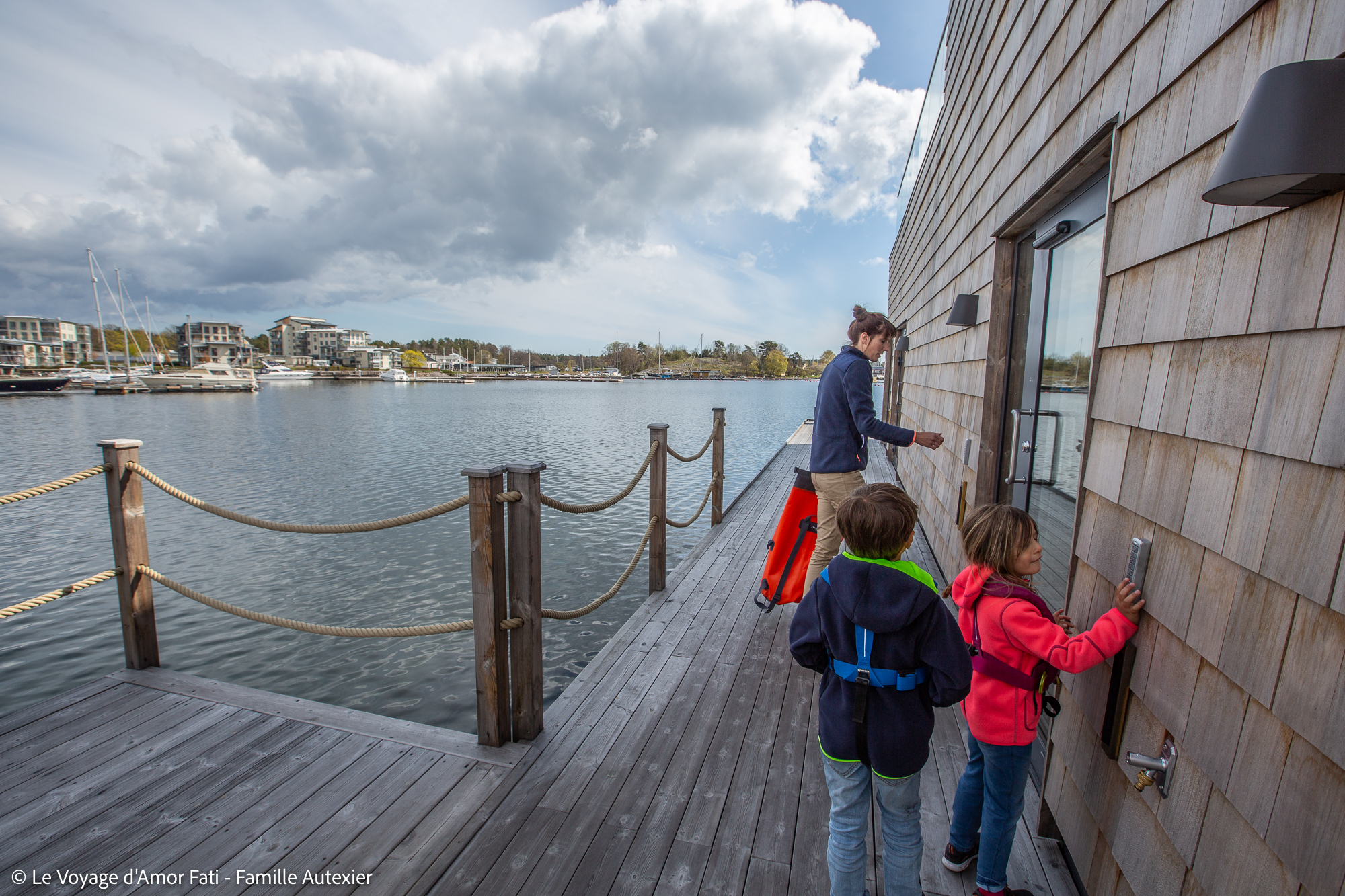 marina Slottsholmen Västervik Voyage Amor Fati Famille Autexier