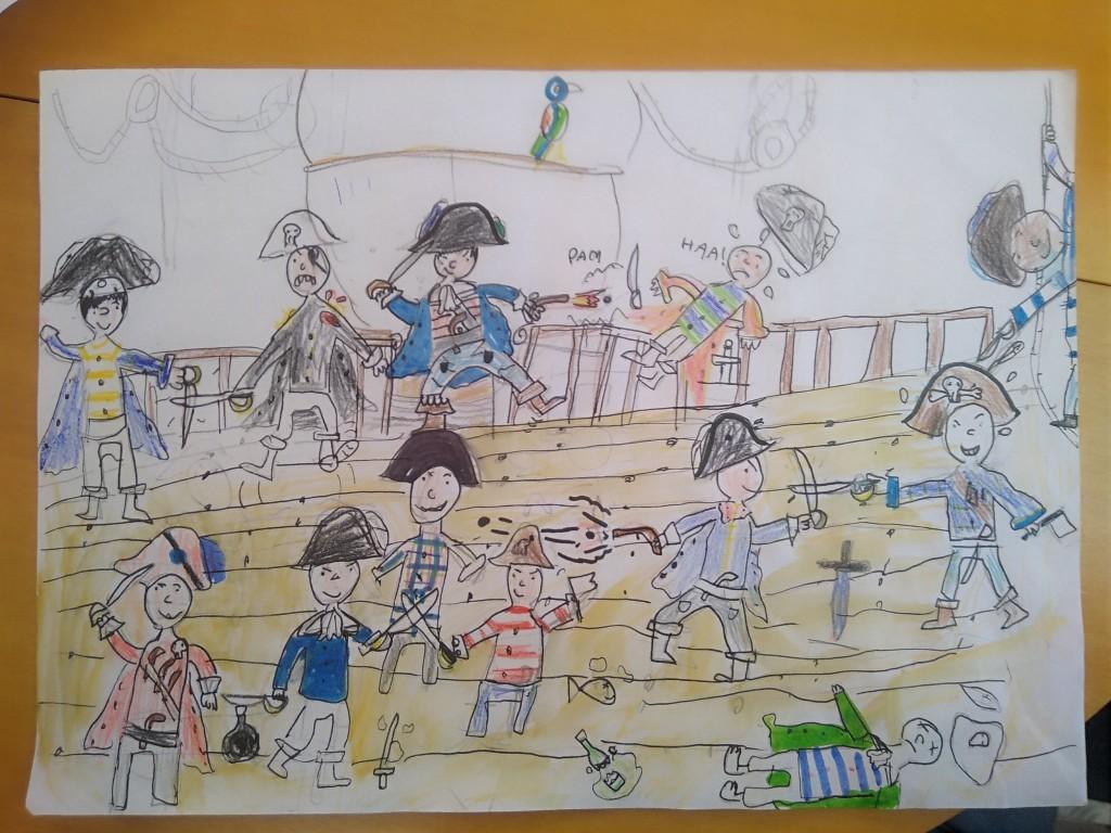 """Bataille des """"Aventuriers"""" contre les pirates, par Paul"""